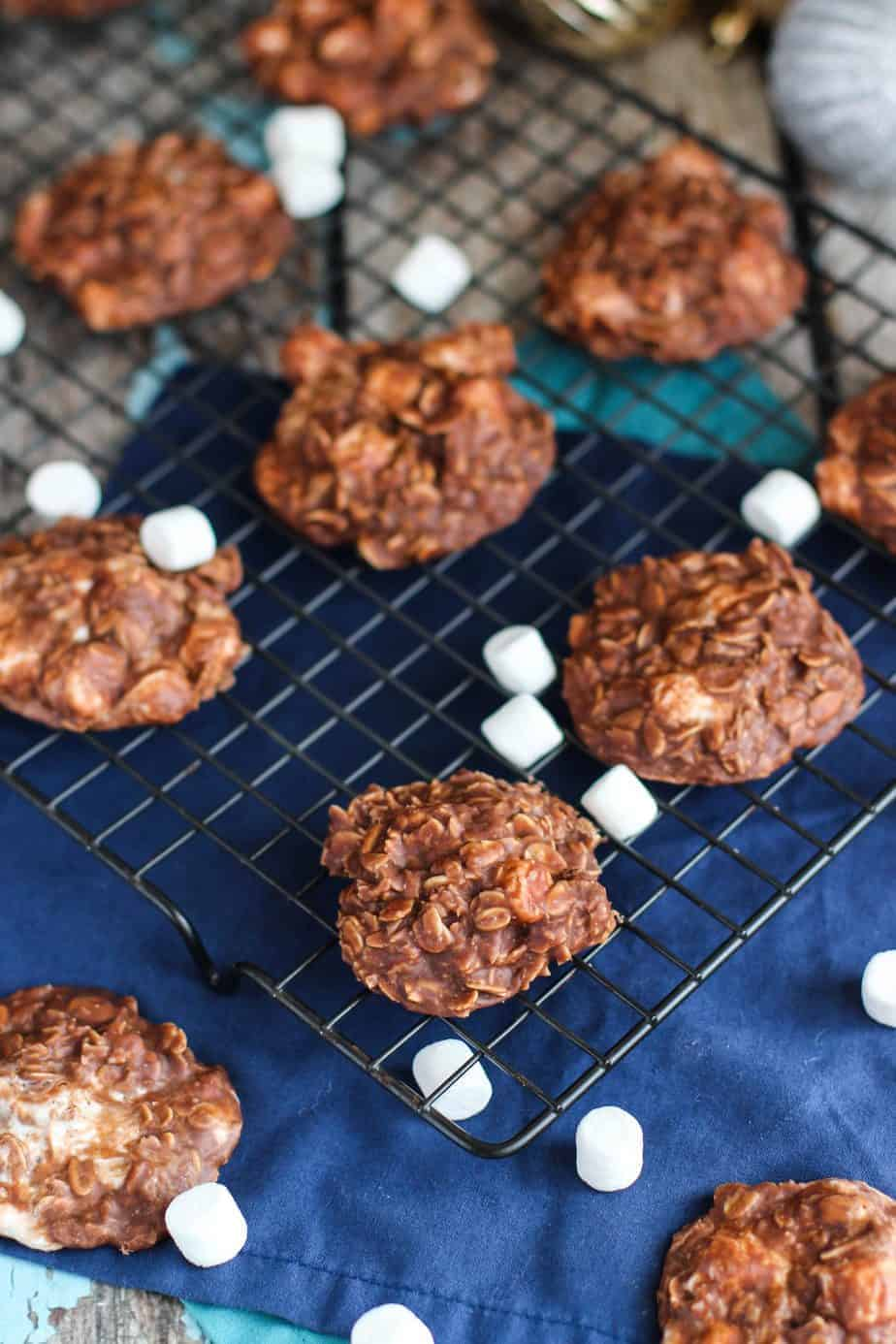 Hot Chocolate No Bake Cookies | A Nerd Cooks