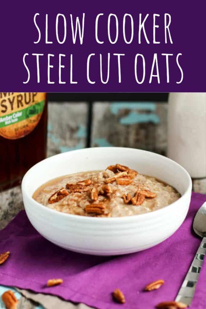 Slow Cooker Steel Cut Oats | A Nerd Cooks