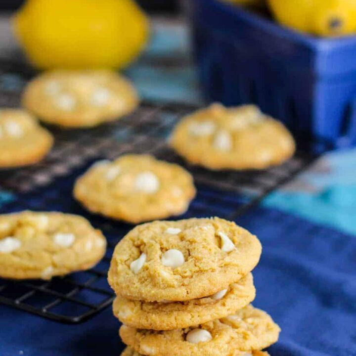 Lemon White Chocolate Chip Pudding Cookies | A Nerd Cooks