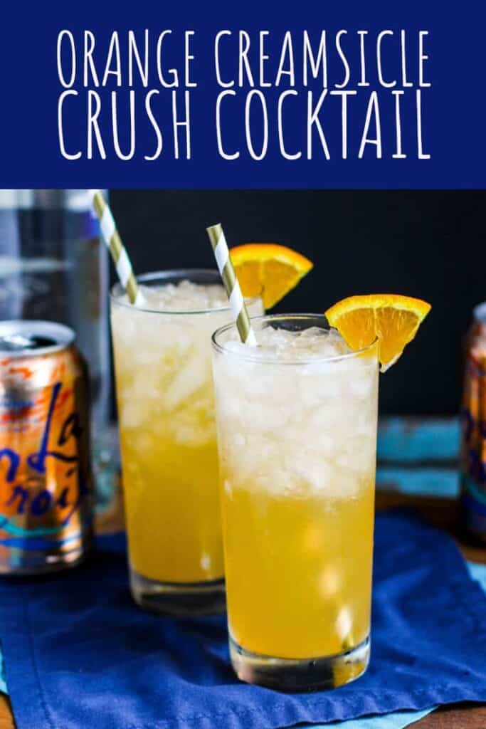 Orange Creamsicle Crush Cocktail | A Nerd Cooks