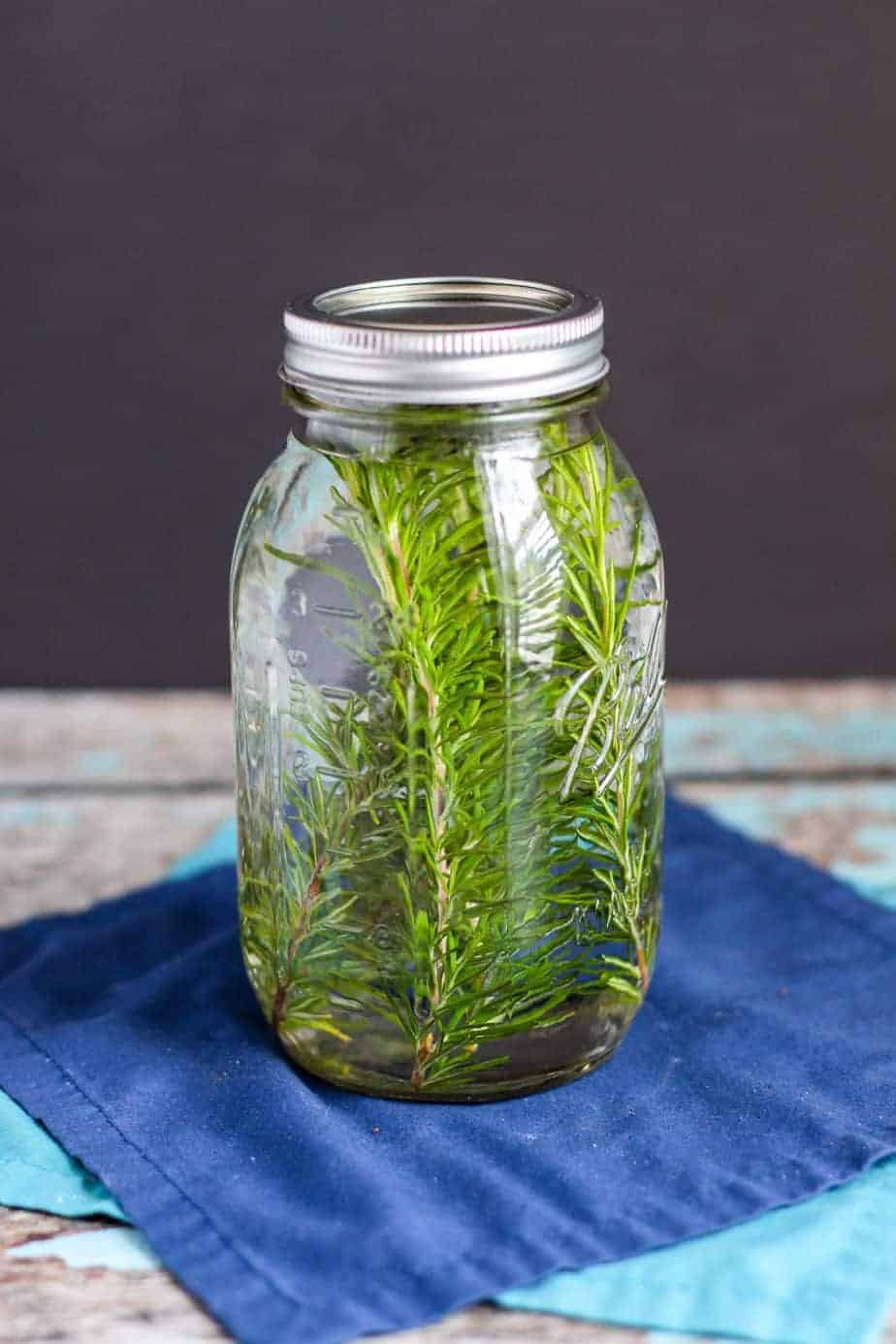 Rosemary Infused Vodka | A Nerd Cooks