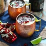Pomegranate Champagne Moscow Mule | A Nerd Cooks