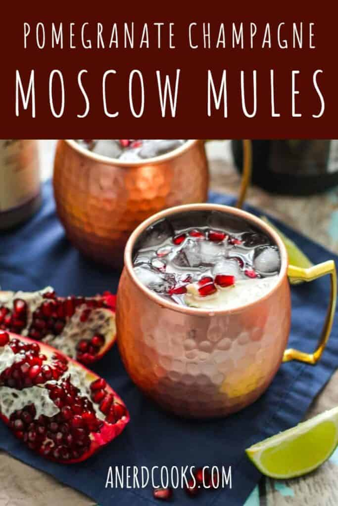 Pomegranate Champagne Moscow Mules | A Nerd Cooks