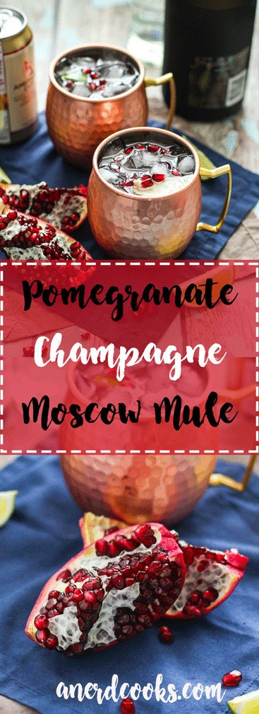 Pomegranate Champagne Moscow Mule   A Nerd Cooks