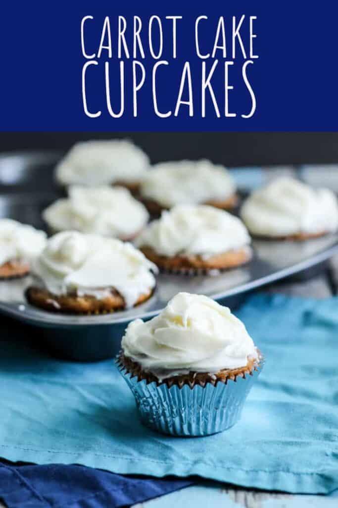 Carrot Cake Cupcakes | A Nerd Cooks