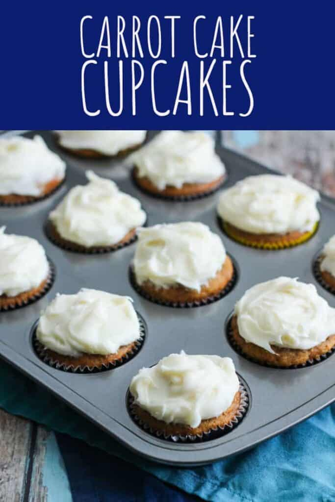Carrot Cake Cupcakes | A Nerd Cooks
