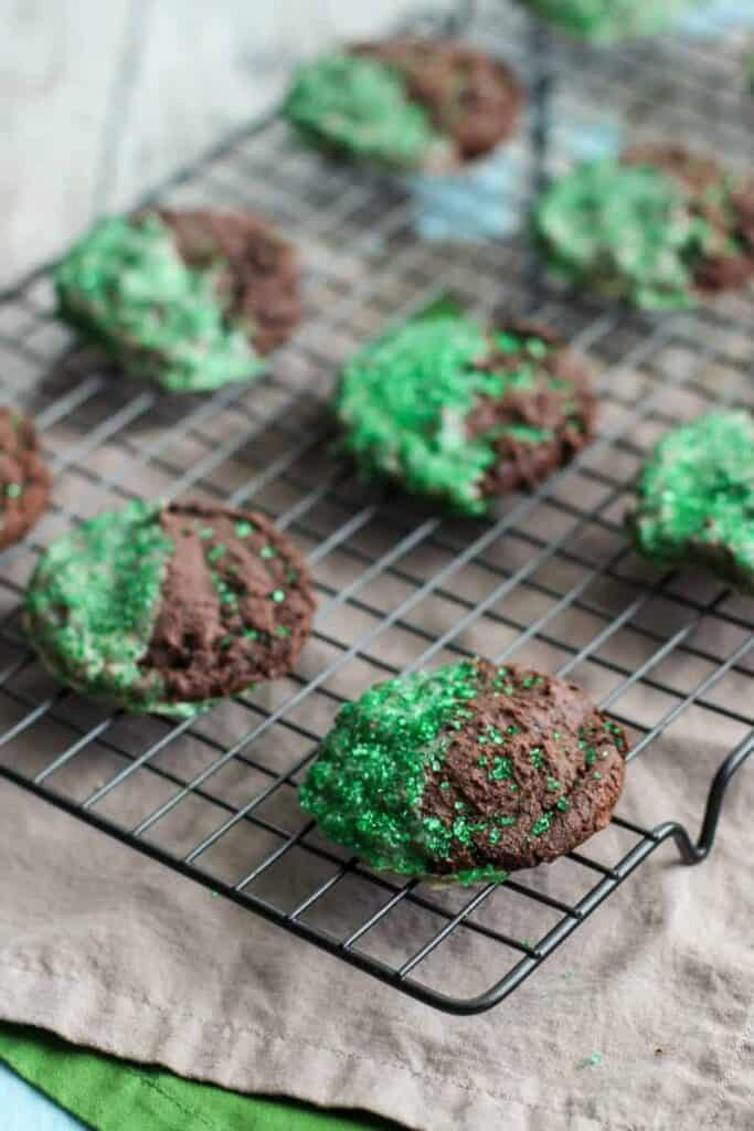 Double Chocolate Irish Cream Cookies | A Nerd Cooks