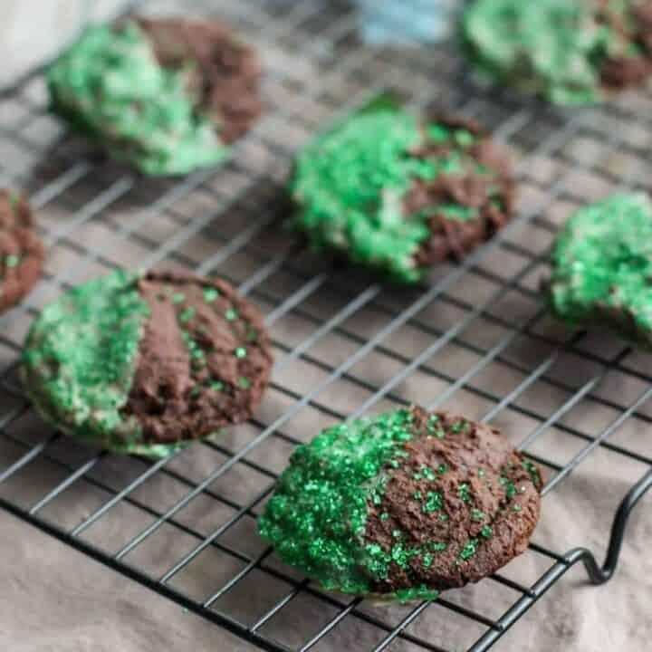 Double Chocolate Irish Cream Cookies | A Nerd Cooks