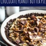 Almost No-Bake Chocolate Peanut Butter Pie | A Nerd Cooks
