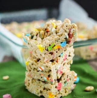 Lucky Charms Marshmallow Bars | A Nerd Cooks