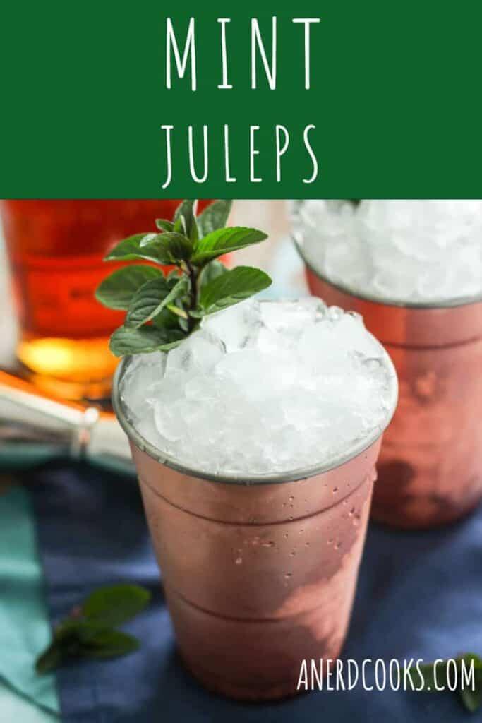 Mint Julep Cocktails | A Nerd Cooks