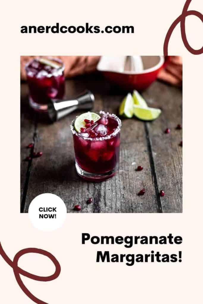 pinterest pin for pomegranate margaritas