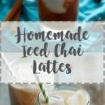 Iced Chai Lattes | A Nerd Cooks