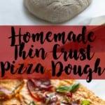 Homemade Thin Crust Pizza Dough | A Nerd Cooks