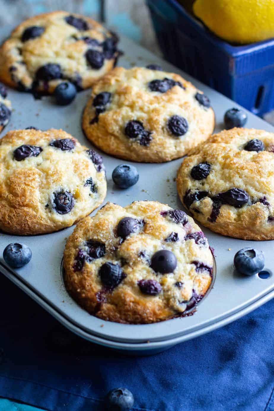 Jumbo Blueberry Muffins | A Nerd Cooks