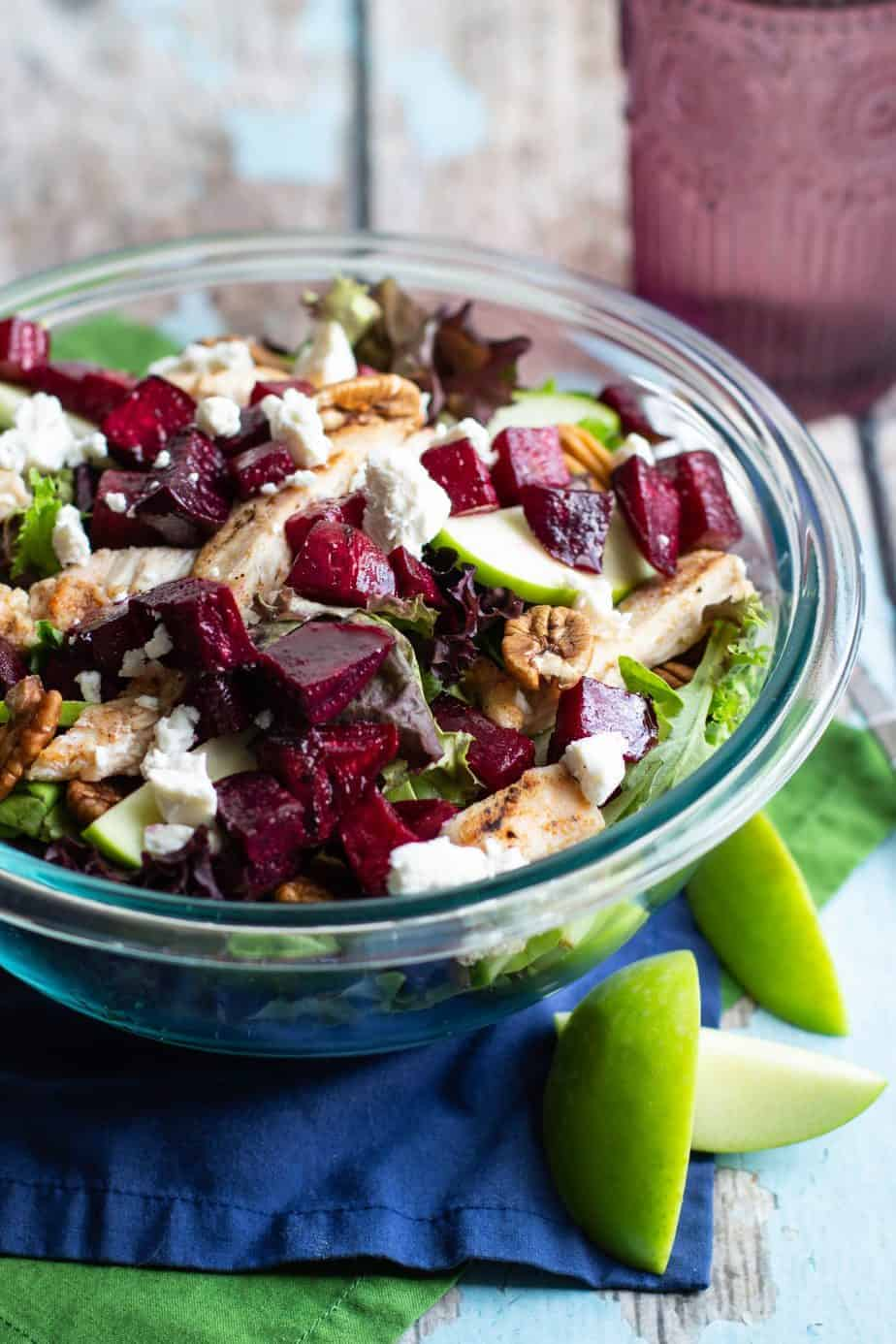 Roasted Beet, Apple, and Goat Cheese Salad | A Nerd Cooks