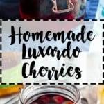 pinterest pin for homemade luxardo cherries