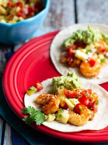 Shrimp Tacos with Pineapple Salsa | A Nerd Cooks