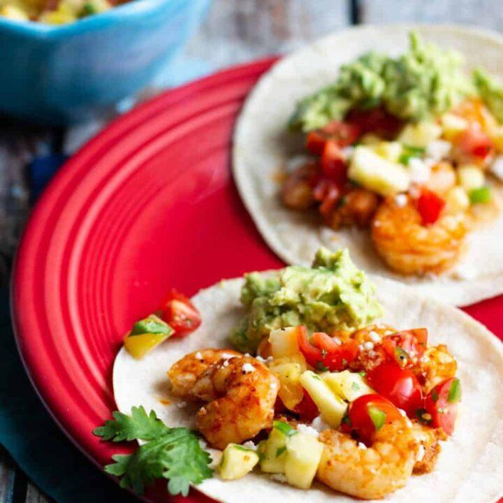 Shrimp Tacos with Pineapple Salsa   A Nerd Cooks
