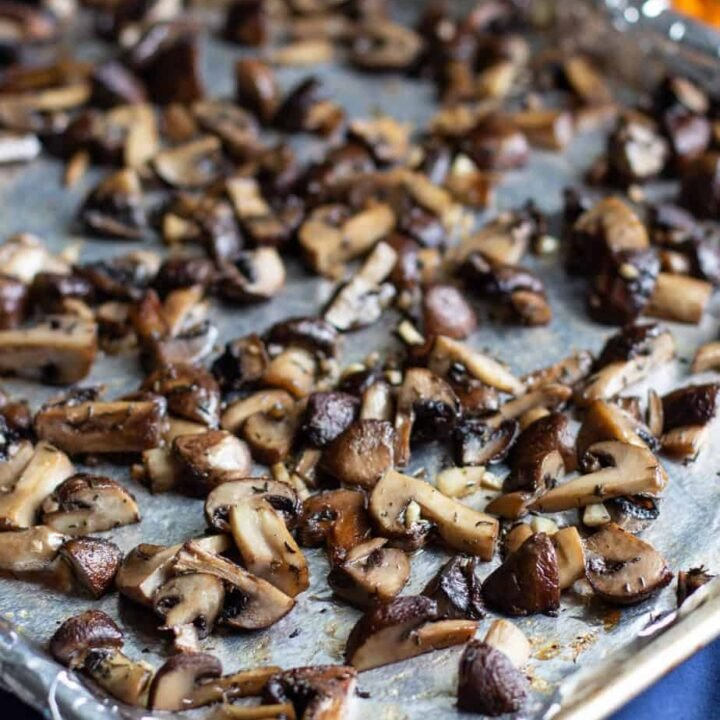 Garlic and Thyme Roasted Mushrooms | A Nerd Cooks