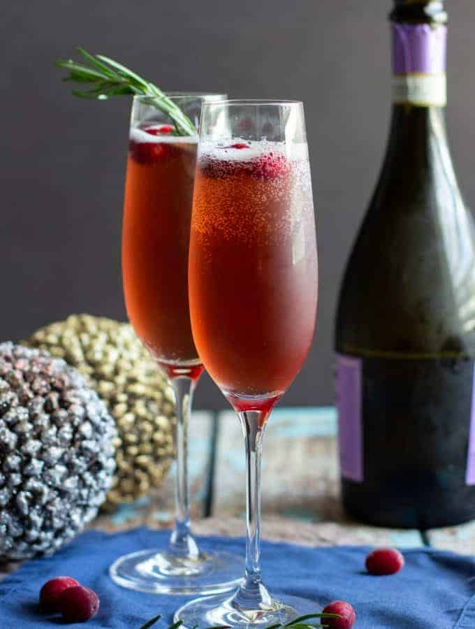 Cranberry Rosemary French 75 | A Nerd Cooks