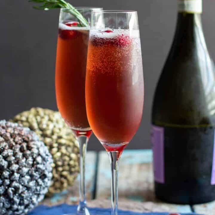 Cranberry Rosemary French 75   A Nerd Cooks