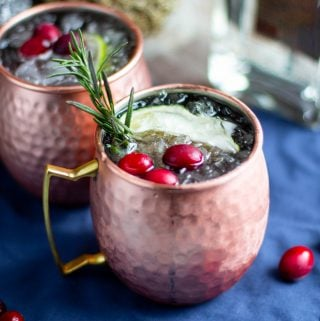 Holiday Gin Moscow Mule | A Nerd Cooks