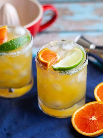 Cara Cara Orange Margaritas | A Nerd Cooks