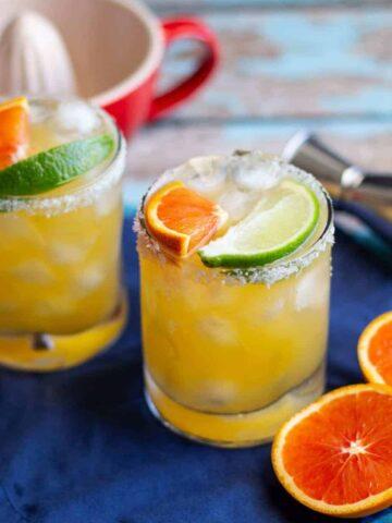 Cara Cara Orange Margaritas | A Nerd Cooks