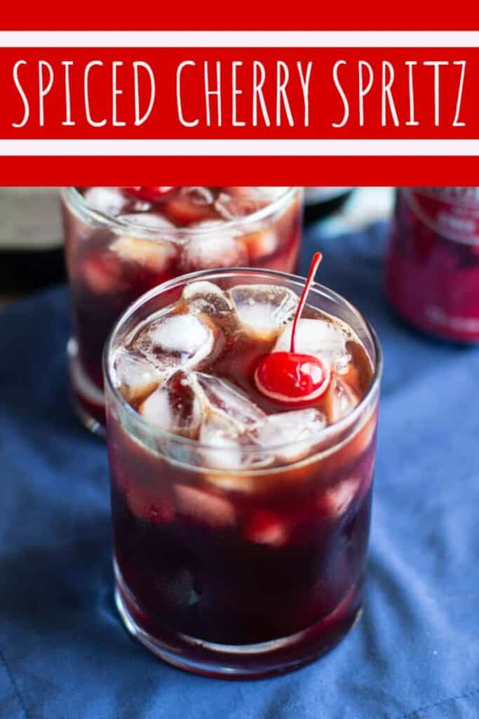 Spiced Cherry Spritz | A Nerd Cooks