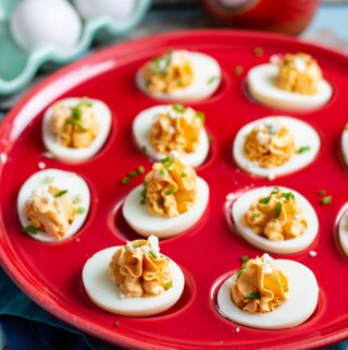 Buffalo Deviled Eggs | A Nerd Cooks
