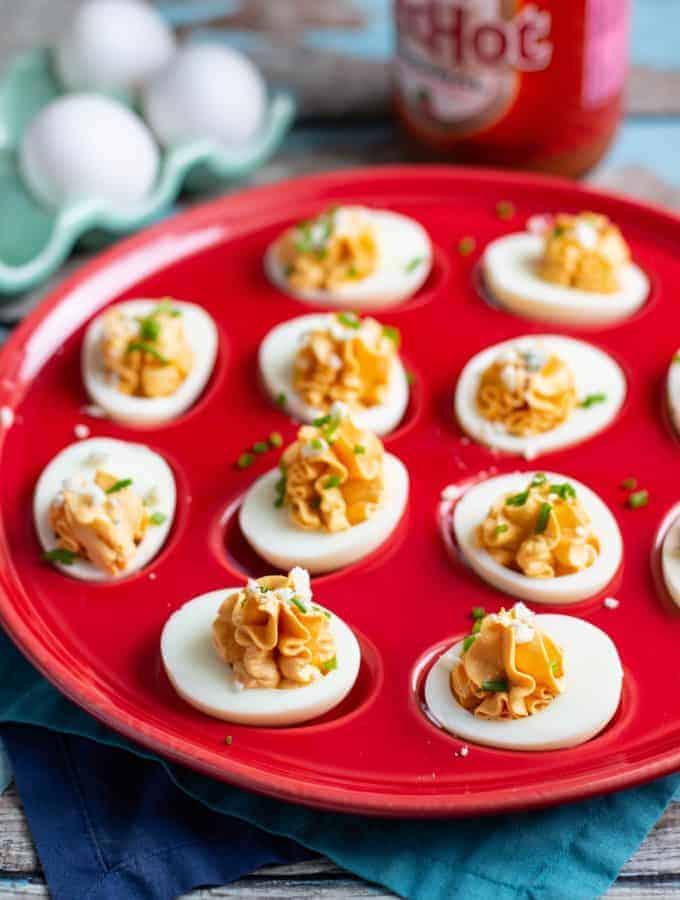 Buffalo Deviled Eggs   A Nerd Cooks
