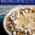 Peanut Butter Marshmallow Pretzel Pie | A Nerd Cooks
