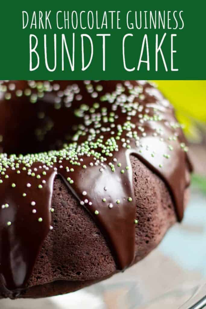 Chocolate Stout Bundt Cake with Irish Cream Glaze | A Nerd Cooks