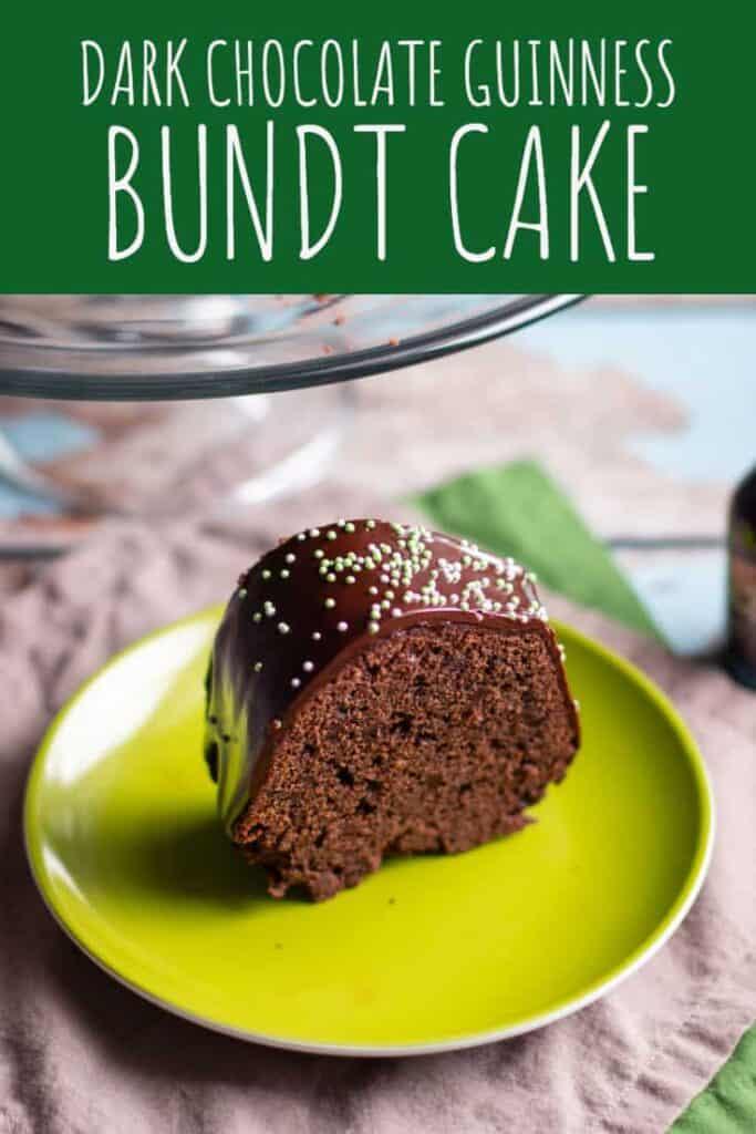 Chocolate Stout Bundt Cake with Irish Cream Glaze | A Nerd Cooks