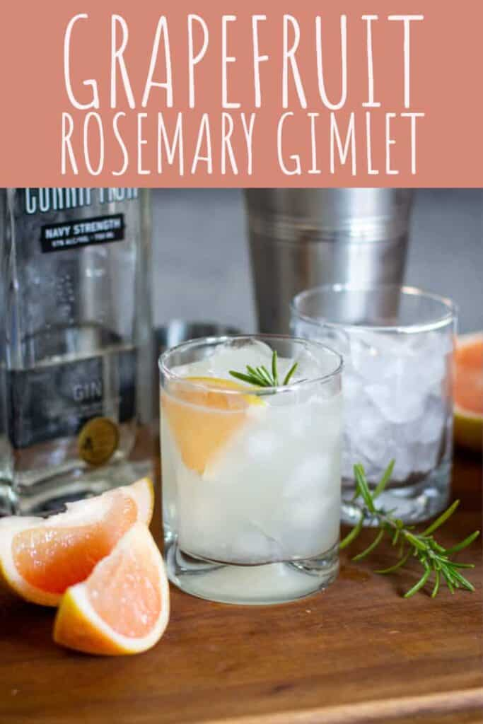 Gin, rosemary, and grapefruit were meant to be together in this refreshing gimlet. #cocktail #gin #rosemary #grapefruit
