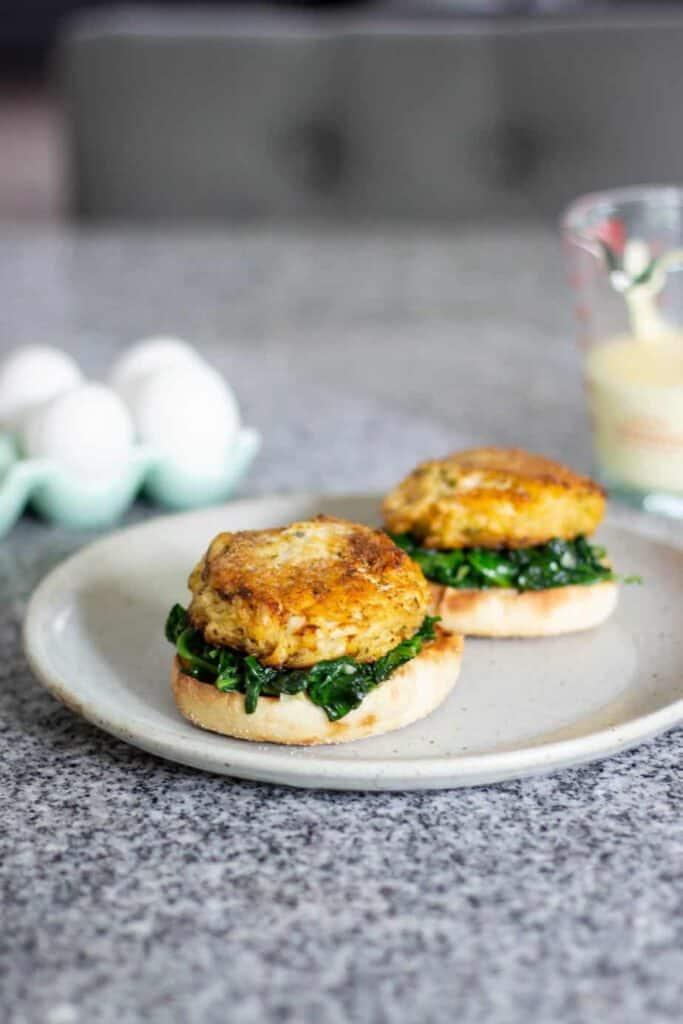 Crab Cake Eggs Florentine (Sous Vide) | A Nerd Cooks