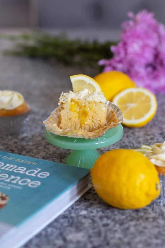 Lemon Poppy Seed Cupcakes | A Nerd Cooks