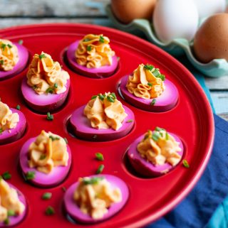 Pickled Deviled Eggs | A Nerd Cooks