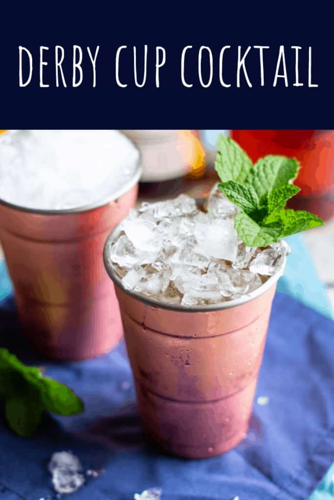 A Derby Cup is what you'd get if a Mint Julep and Pimm's Cup got together and had a baby #kentuckyderby #mintjulep #pimmscup #pimms #bourbon