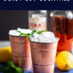 pinterest pin for the derby cup cocktail