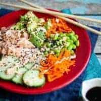 Spicy Salmon Sushi Bowls