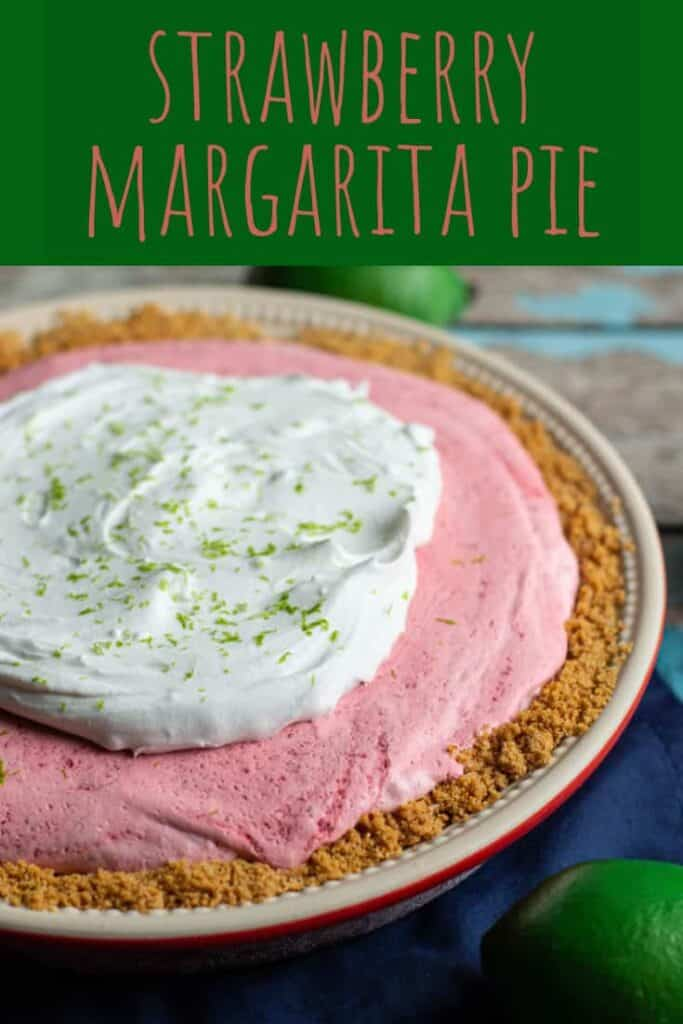 This Strawberry Margarita Pie is cold, sweet, and a touch boozy!