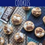 pinterest pin for s'mores chocolate chip cookies