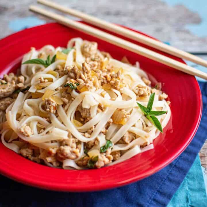 Thai Basil Pork and Noodles