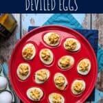 pinterest pin for old bay deviled eggs