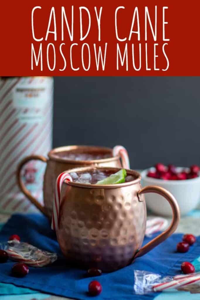 Candy Cane Moscow Mules | A Nerd Cooks
