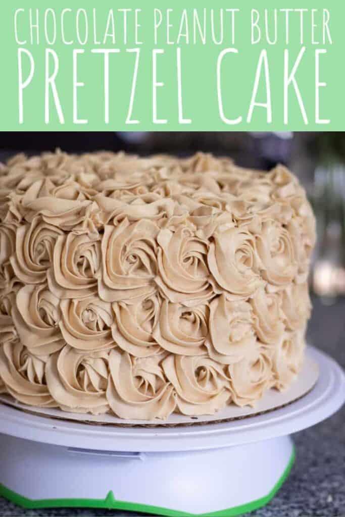 Chocolate Peanut Butter Pretzel Cake | A Nerd Cooks
