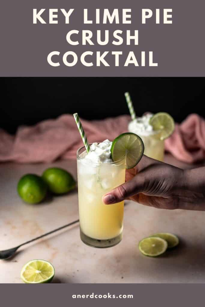 pinterest pin for key lime pie crush cocktails