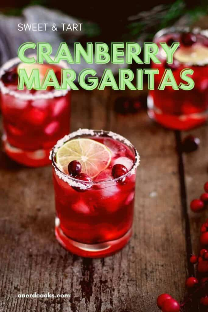 pinterest pin for cranberry margaritas